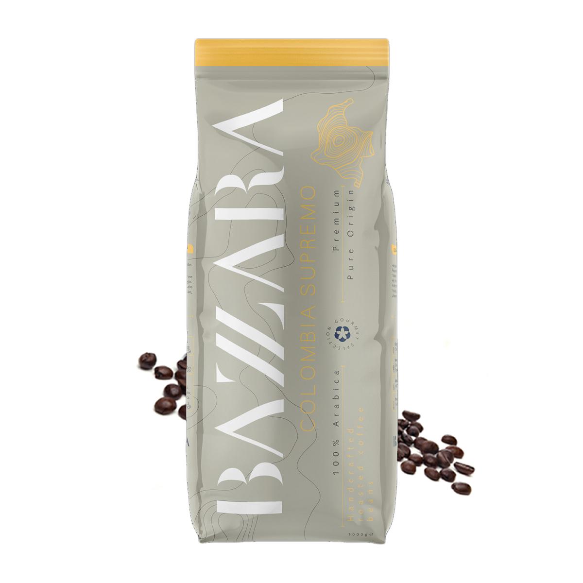 Bazzara Columbia Supremo cafea boabe de origine 1 kg
