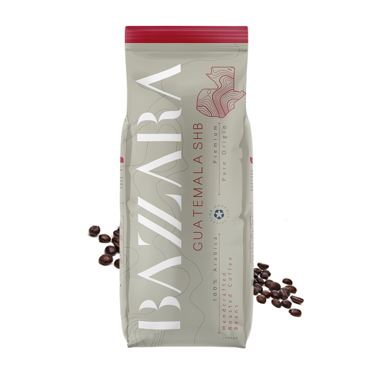 Bazzara Guatemala SHB cafea boabe de origine 1 kg
