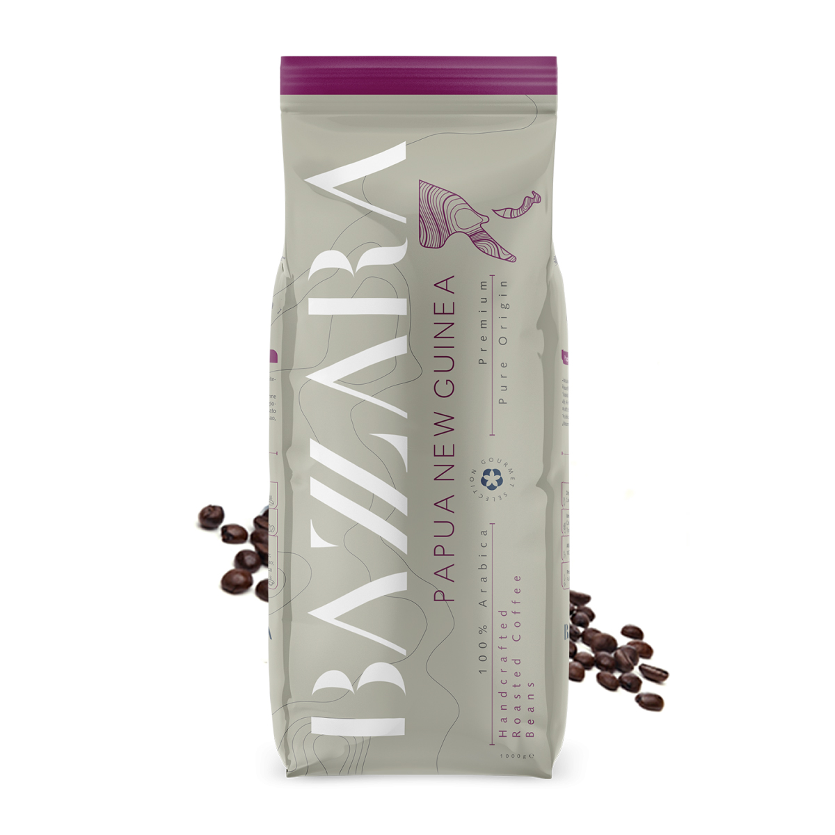 Bazzara Papua Noua Guinee cafea boabe de origine 1kg