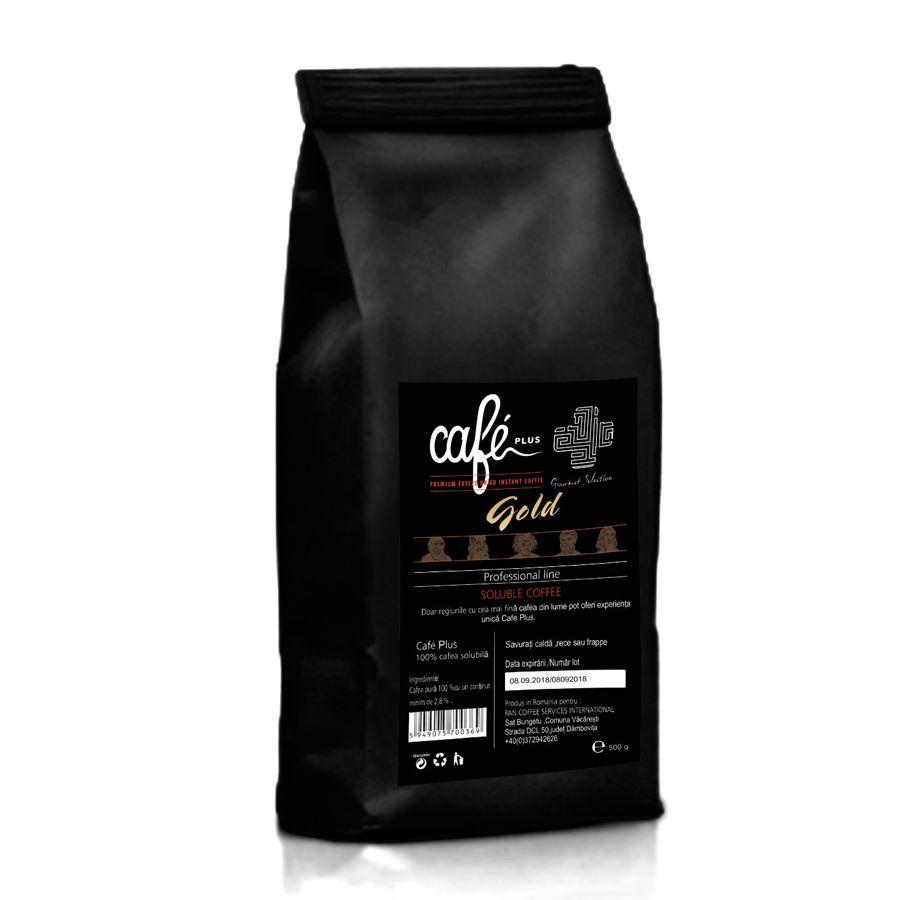 Cafe Plus Gold cafea instant granulata 500gr