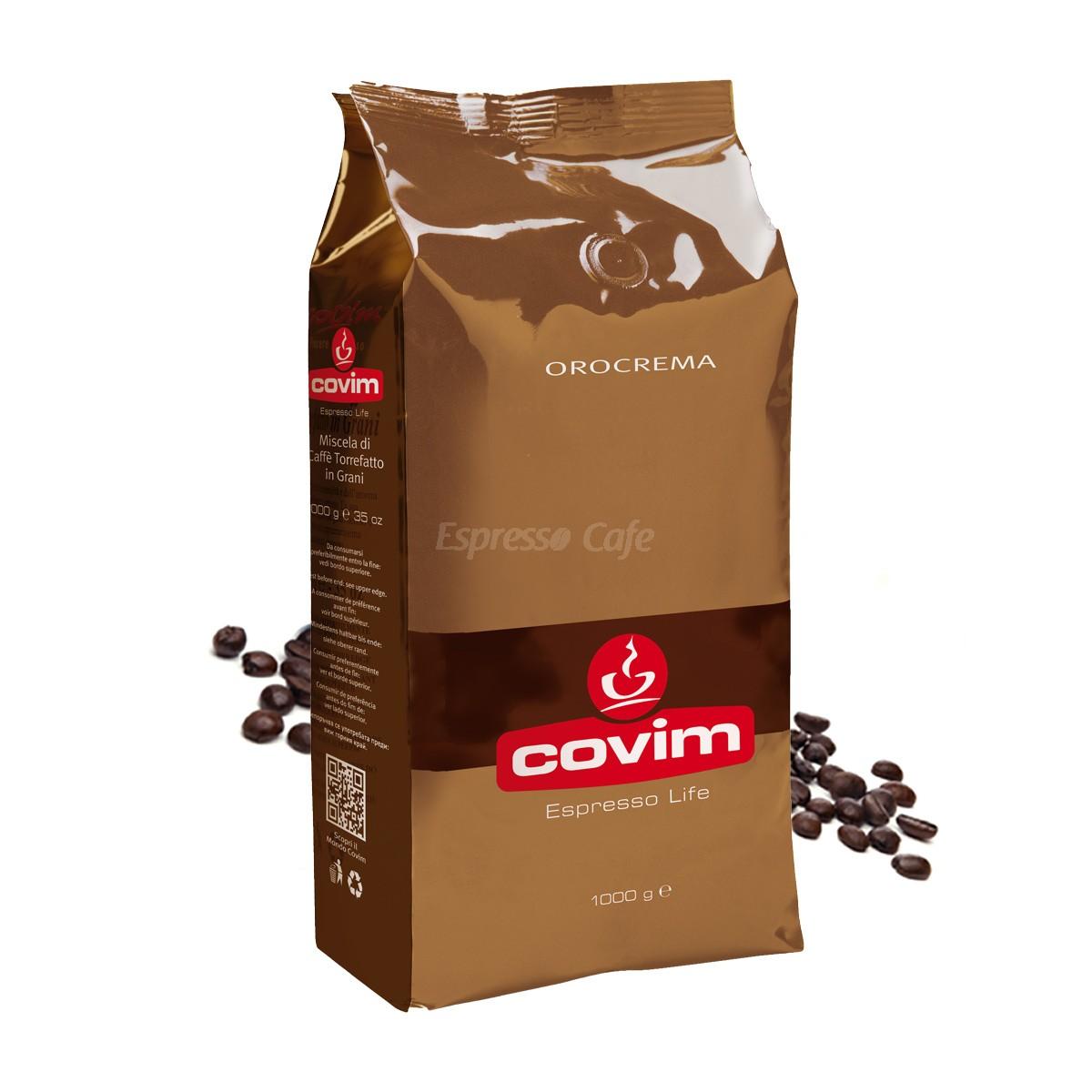 Covim Orocrema cafea boabe 1 kg