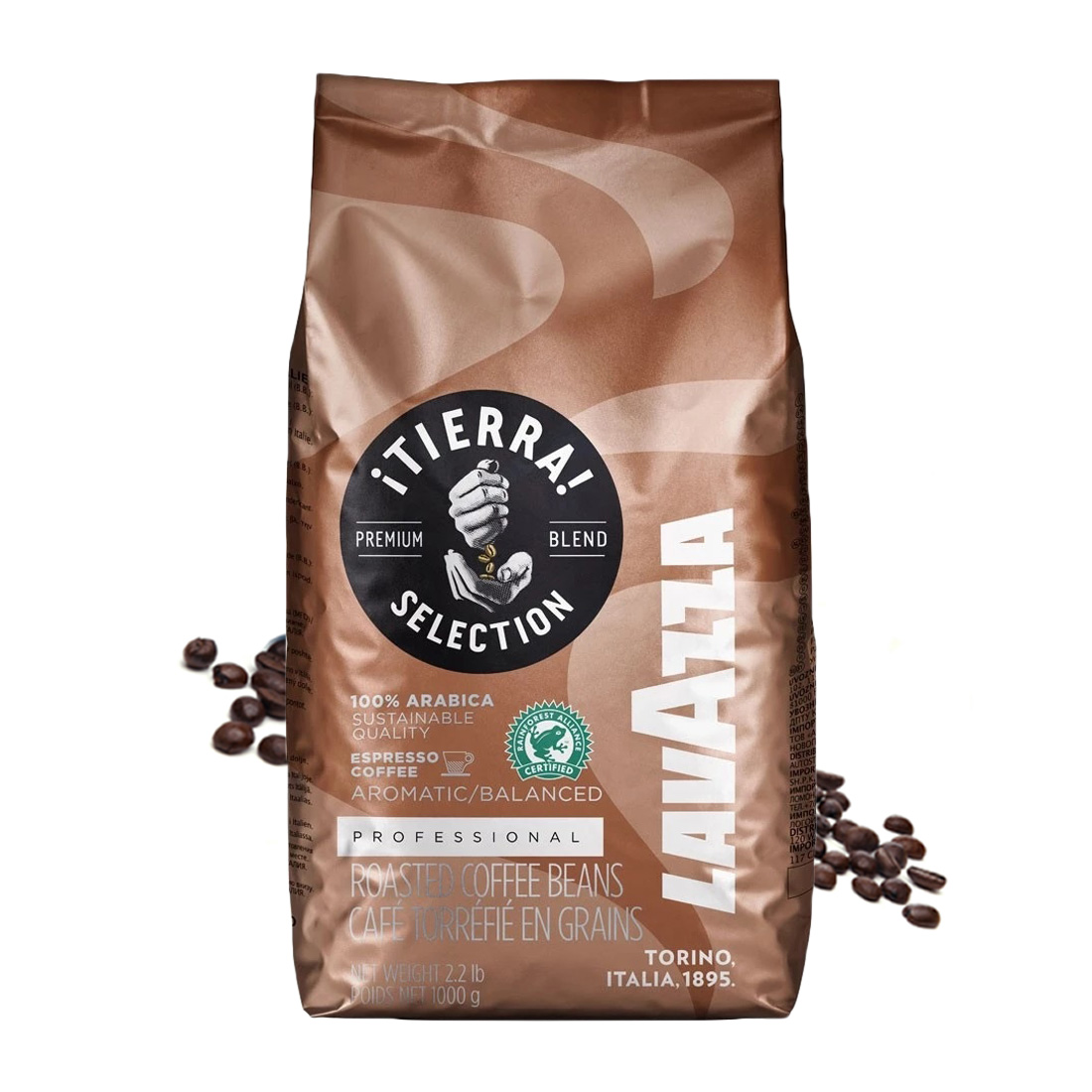 Lavazza Tierra Selection cafea boabe 1kg