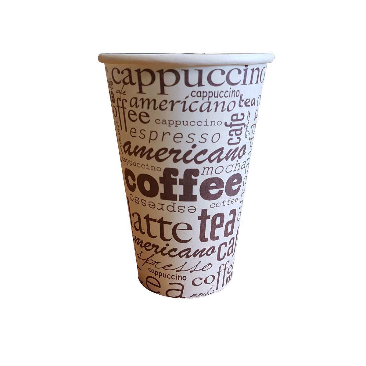 Cappuccino pahare carton 16 oz set 50 buc