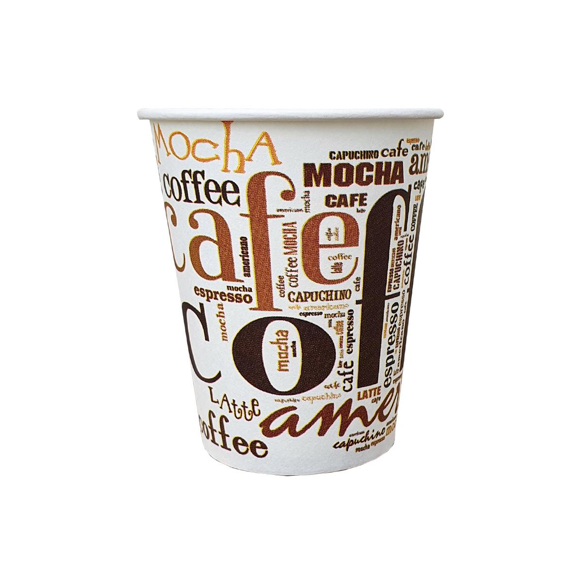 Coffee Coffee 6oz pahare carton Siba 170 ml set 50 buc