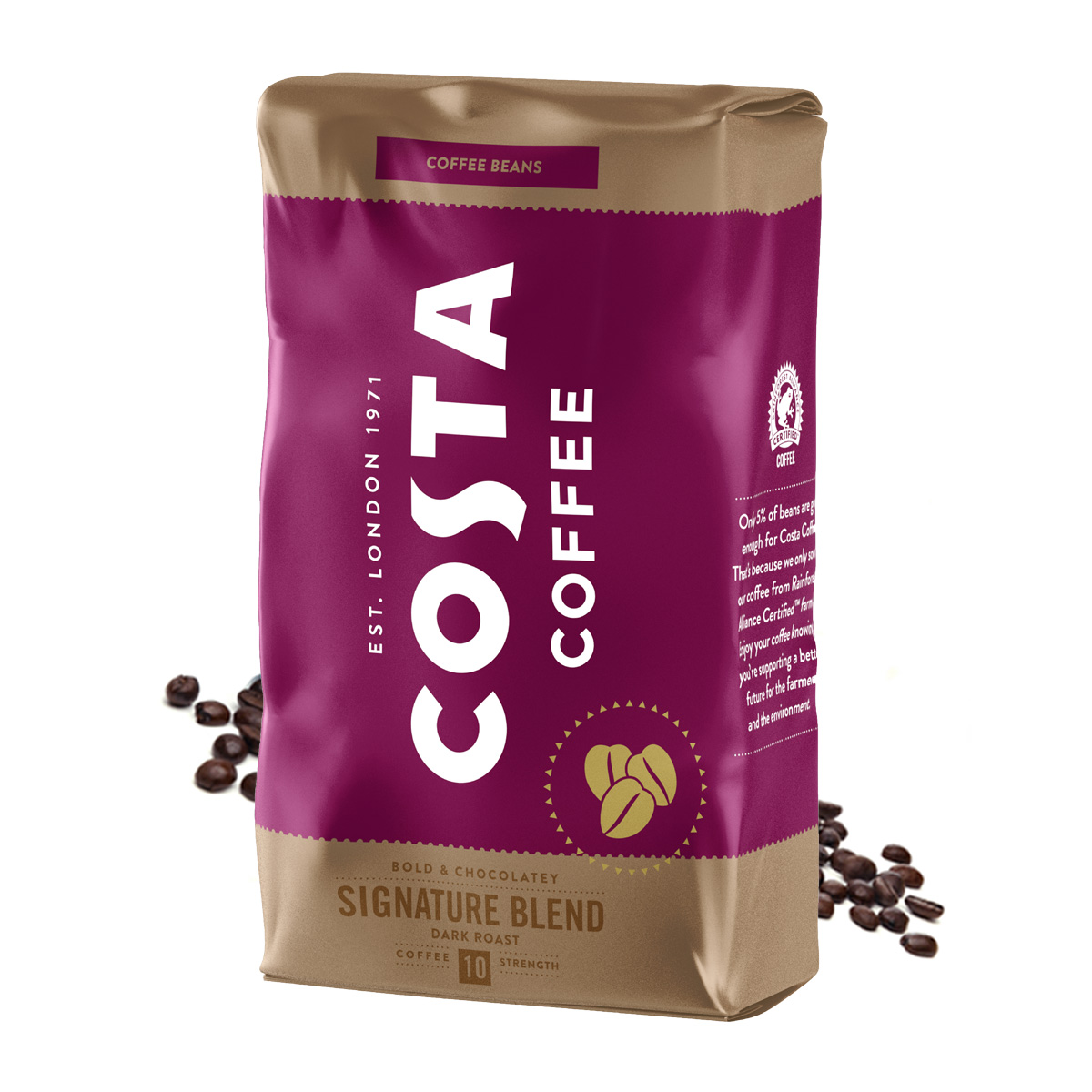 Costa Signature Blend Dark Roast cafea boabe 1kg