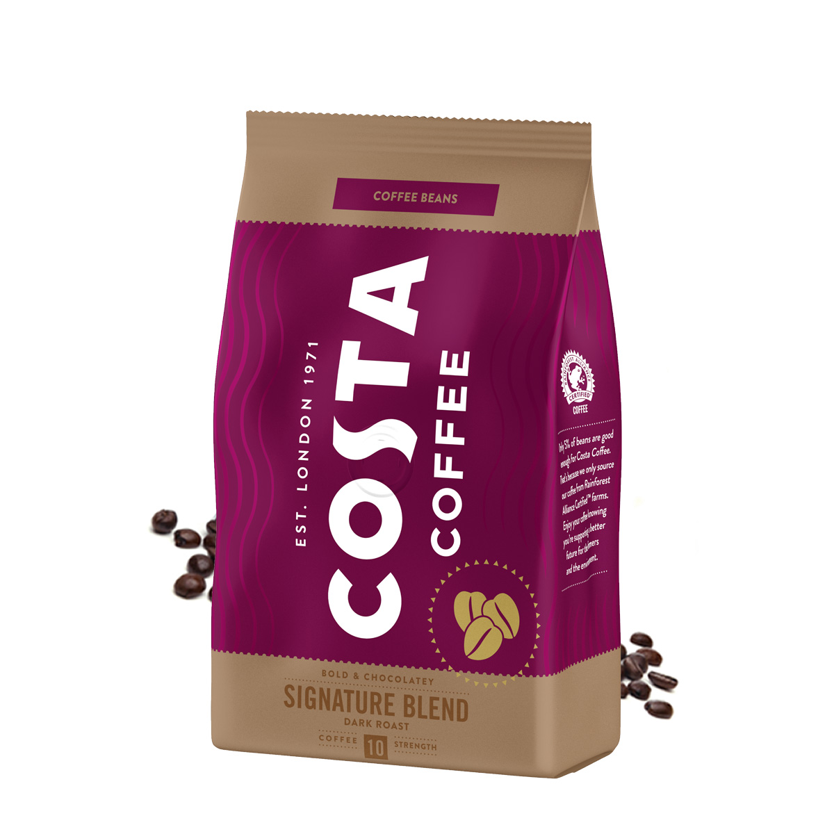 Costa Signature Blend Dark Roast cafea boabe 500g