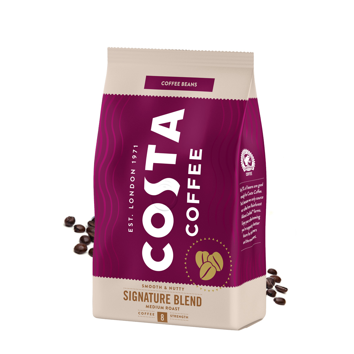 Costa Signature Blend Medium Roast cafea boabe 500g