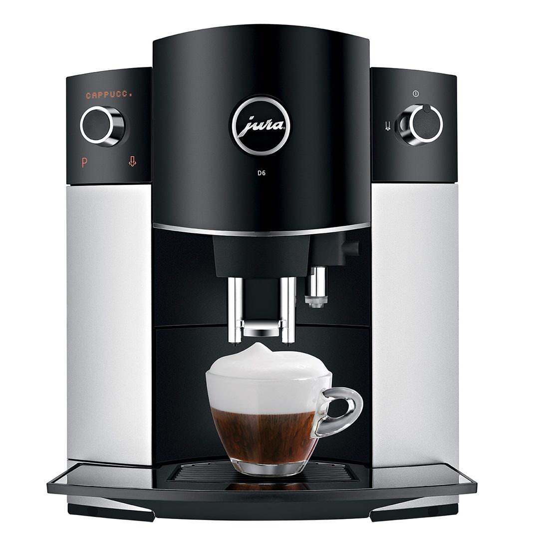 Espressor automat Jura D6, 15 bari, 1.9 l, 200g, rasnita AromaG2, afisaj cu text, Platinum+ cafea cadou