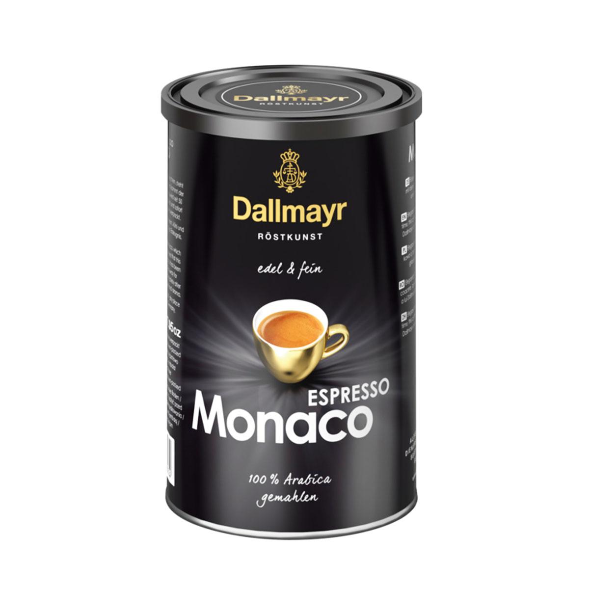 Dallmayr Espresso Monaco cafea macinata cutie metalica 200g
