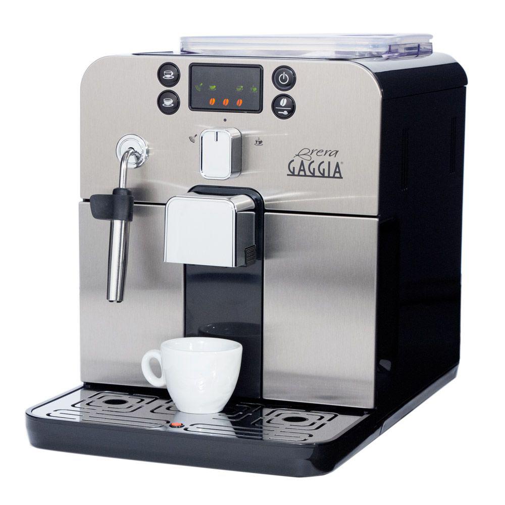 Espressor automat Gaggia Brera Negru, 15 bari, 1.2 l, 250g, display cu simboluri, steamer, cafea cadou