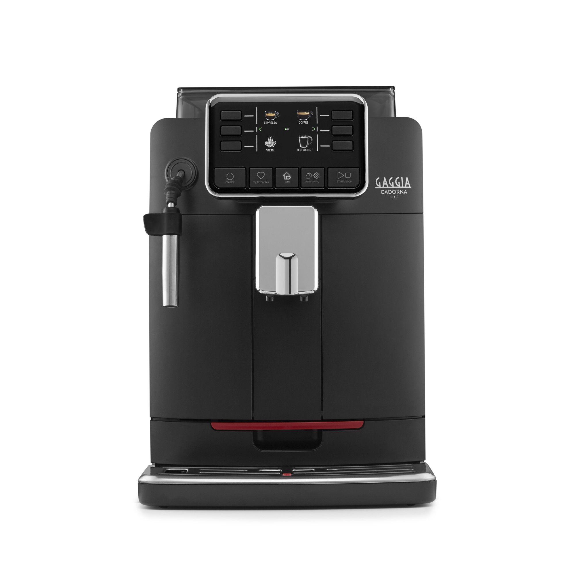Espressor automat Gaggia Cadorna Plus, 15 bari, 1.5 l, 300g, contorizare, profile, pannarello inox, cafea cadou