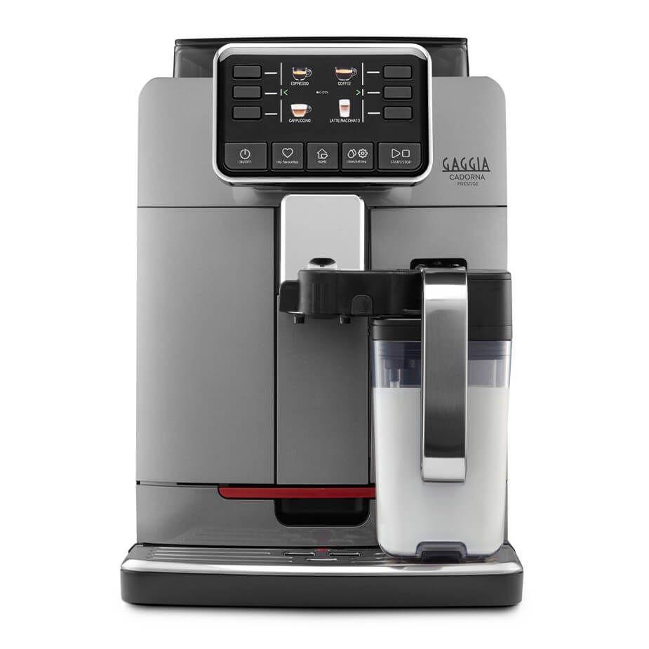 Espressor automat Gaggia Cadorna Prestige, 15 bari, 1.5 l, 300g, contorizare, profile, carafa lapte, cafea cadou