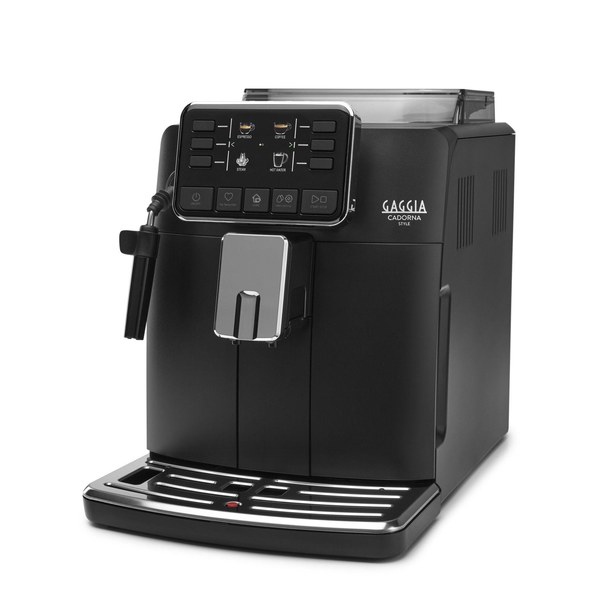 Espressor automat Gaggia Cadorna Style, 15 bari, 1.5 l, 300g, contorizare, profile, pannarello, cafea cadou