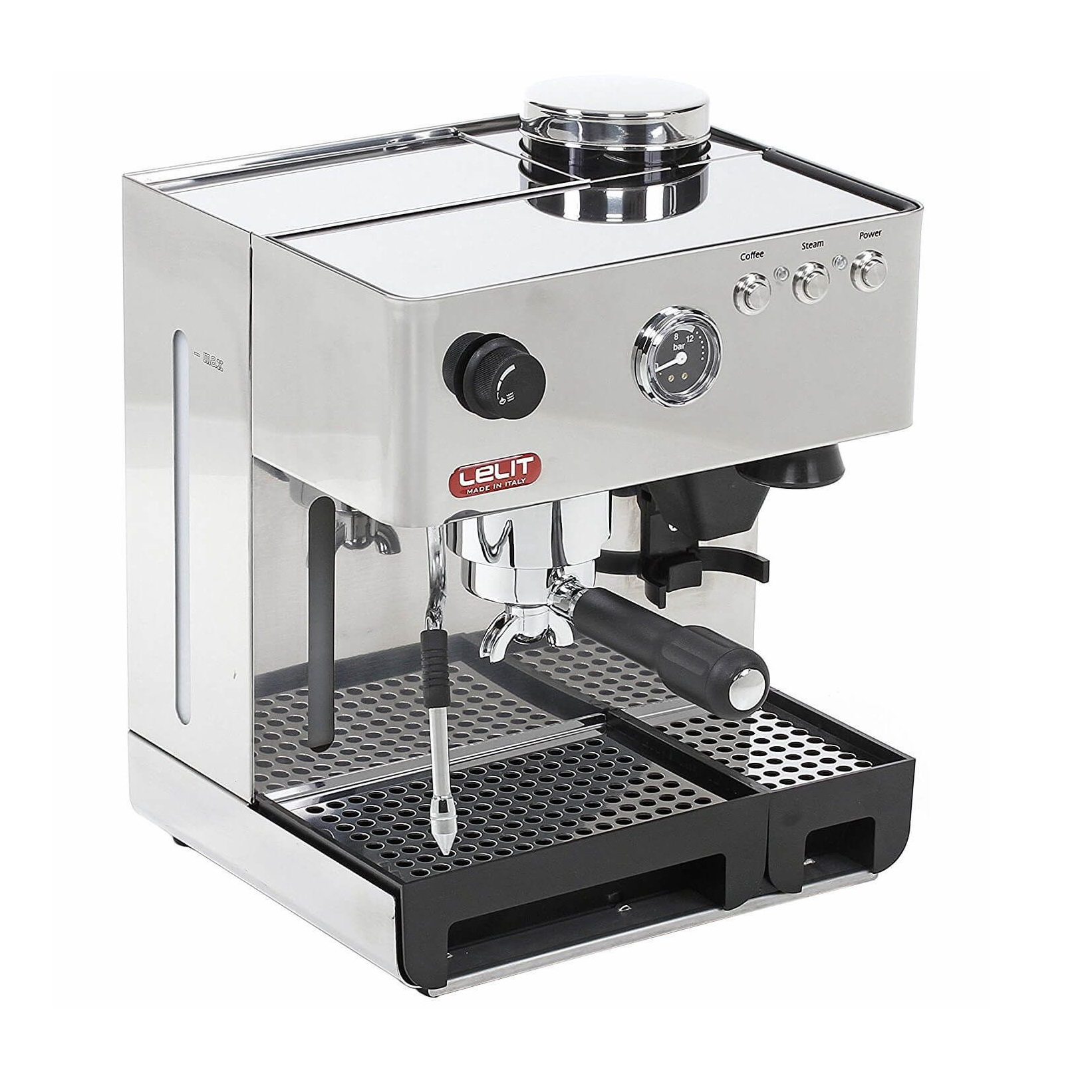 Espressor manual Lelit PL 42 EMI, 1200 W, 2.7 L, 15 bar, rasnita, manometru