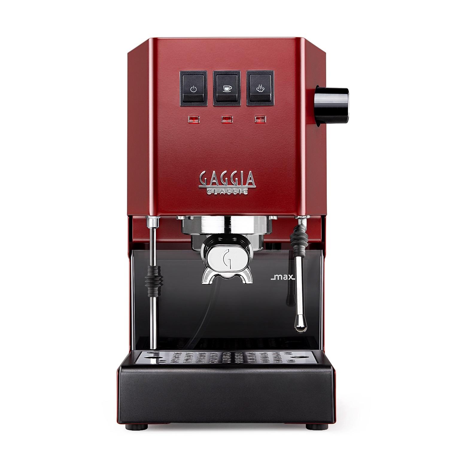 Espressor manual Gaggia Classic 2019 Rosu, 1050 W, 2.1 L, 15 bar, cadou Tamper Motta 58 mm