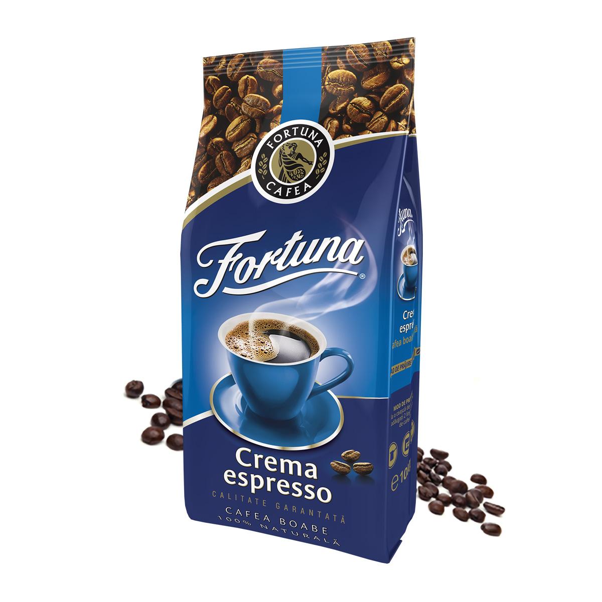 Fortuna Crema Espresso albastra cafea boabe 1kg