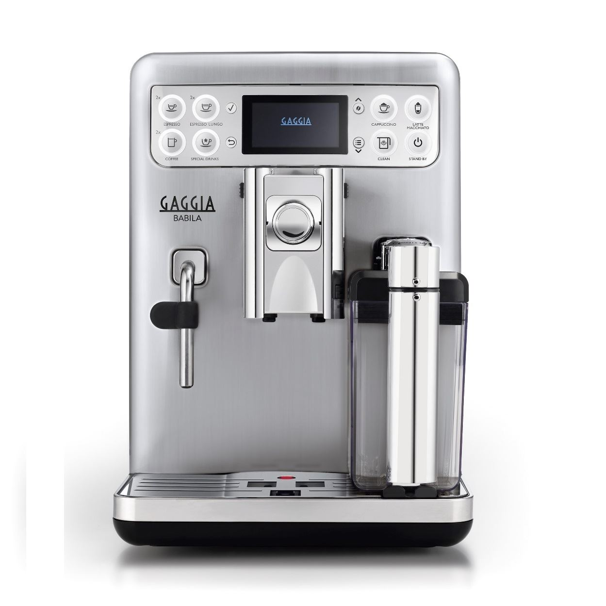 Espressor automat Gaggia Babila, 15 bari, 1.5 l, 300g, 1400W, Carafa de lapte, cafea cadou