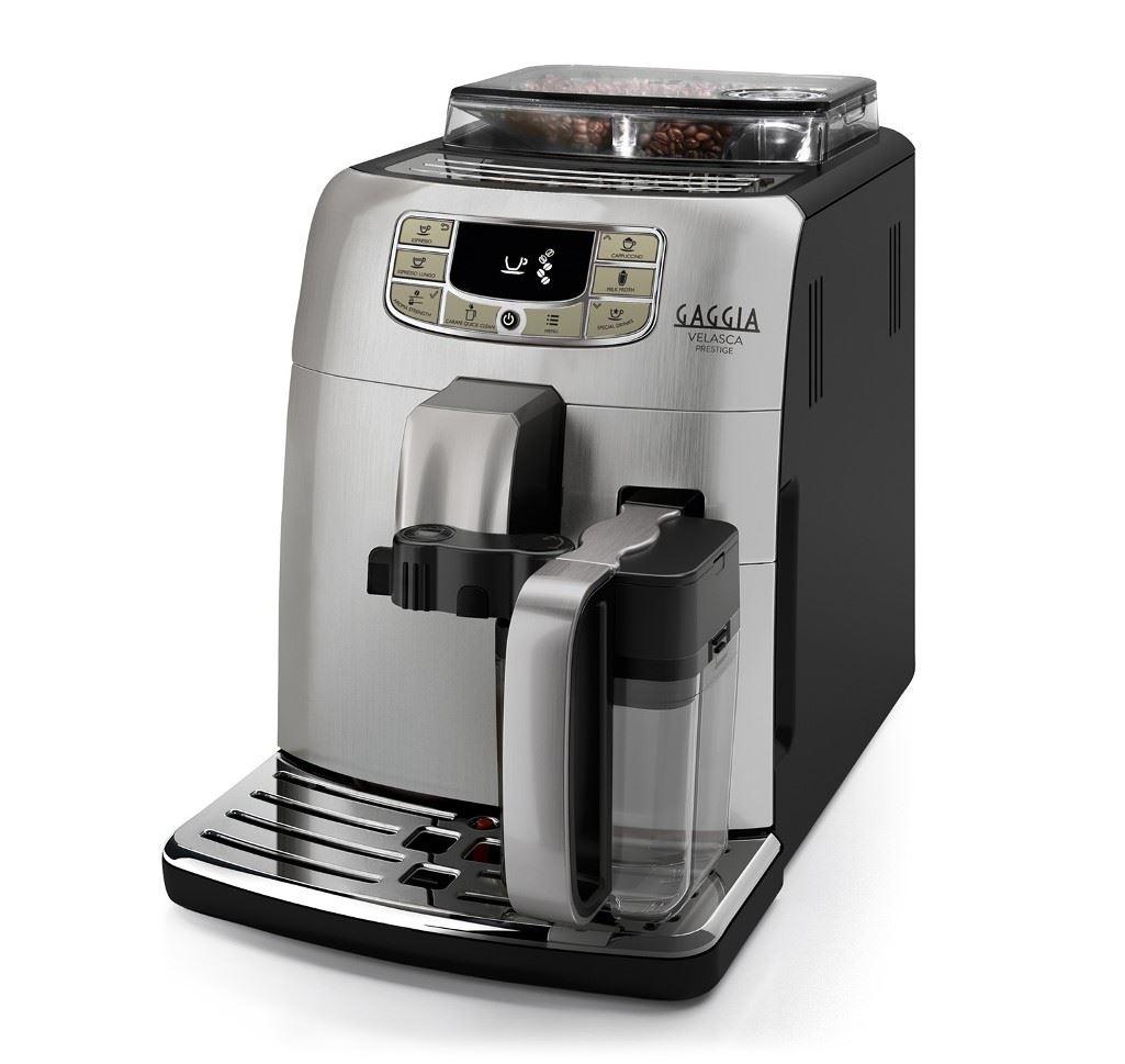 Espressor automat Gaggia Velasca Prestige, 15 bari, 1.5 l, 300g, Carafa de lapte, cafea cadou
