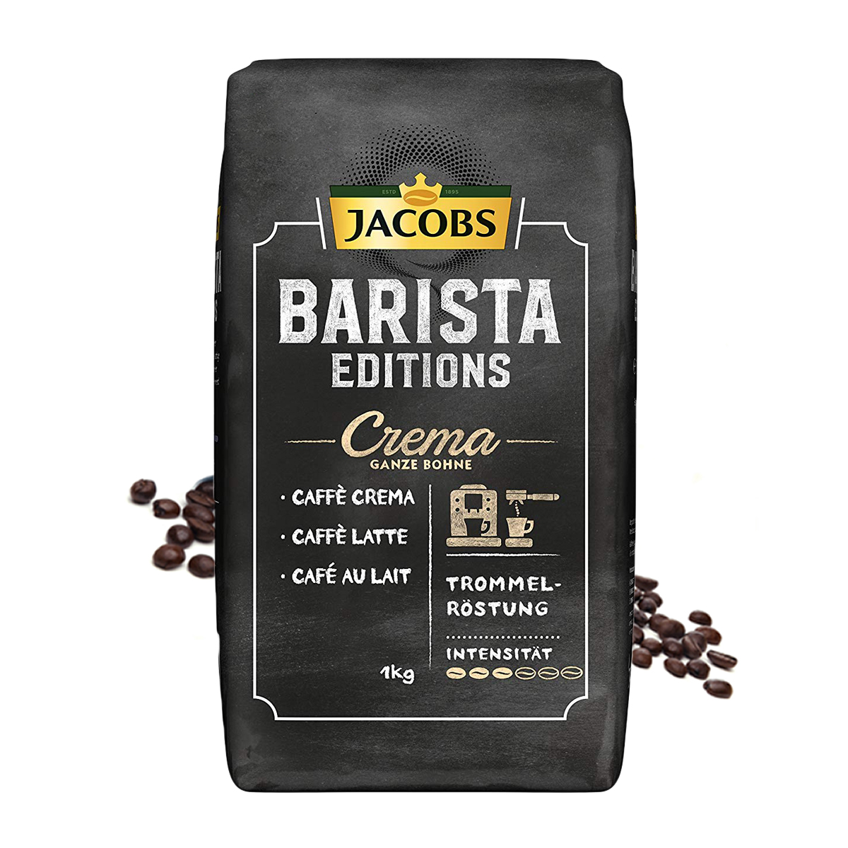 Jacobs Barista Crema cafea boabe 1 kg