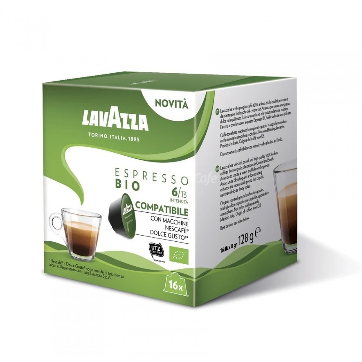 Lavazza Espresso BIO capsule compatibile Nescafe Dolce Gusto cutie 16 buc