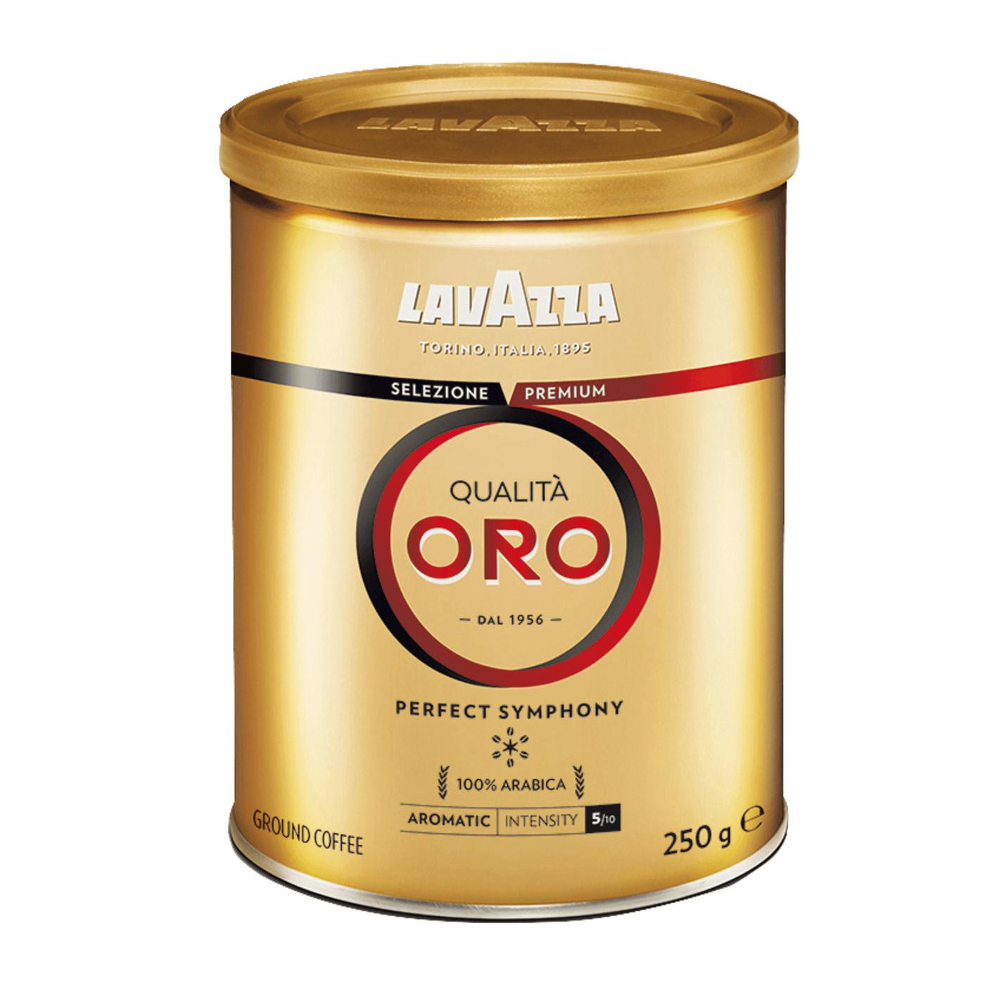 Lavazza Qualita Oro cafea macinata cutie metalica 250 gr