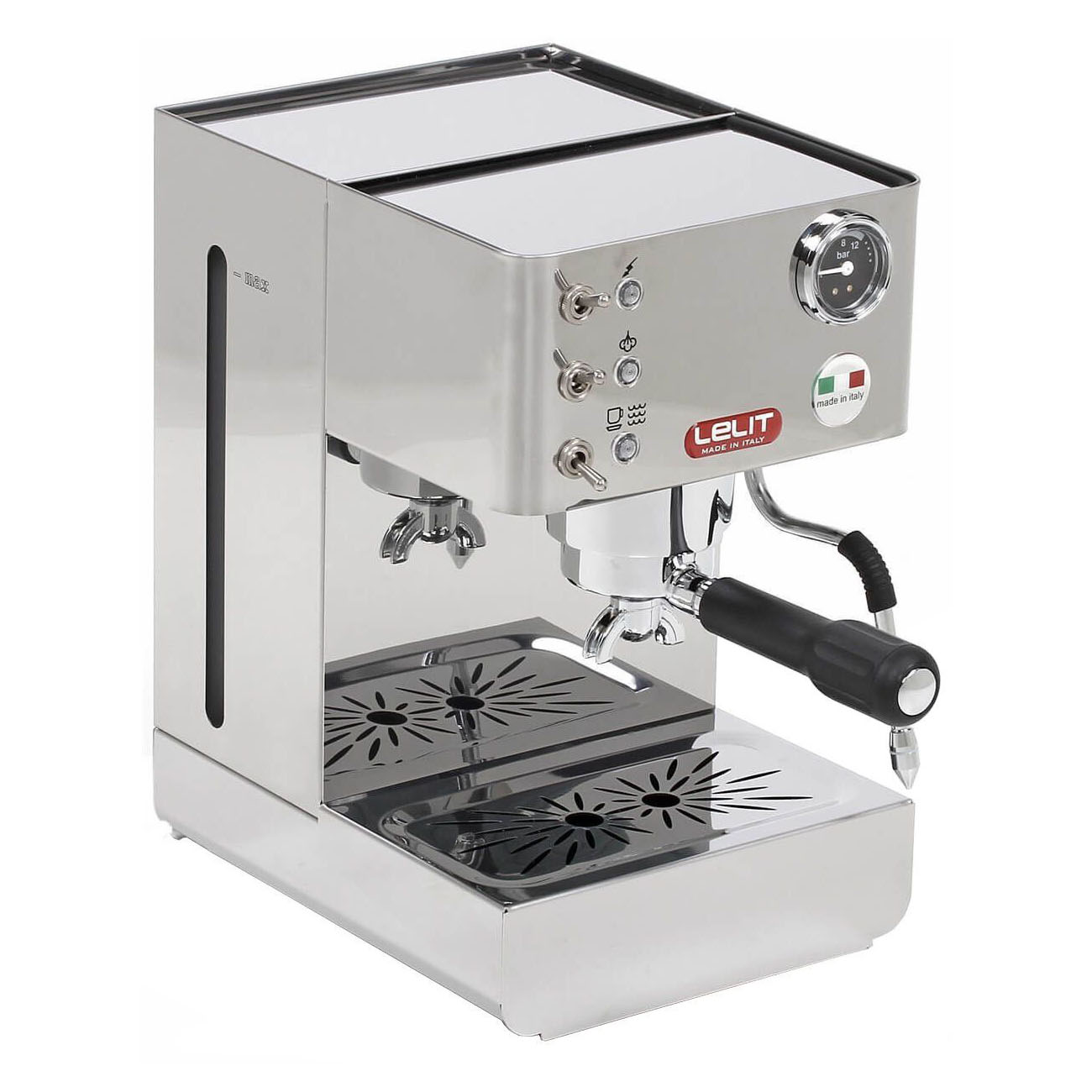 Espressor manual Lelit PL 41 LEM, 1050 W, 2 L, 15 bar, manometru