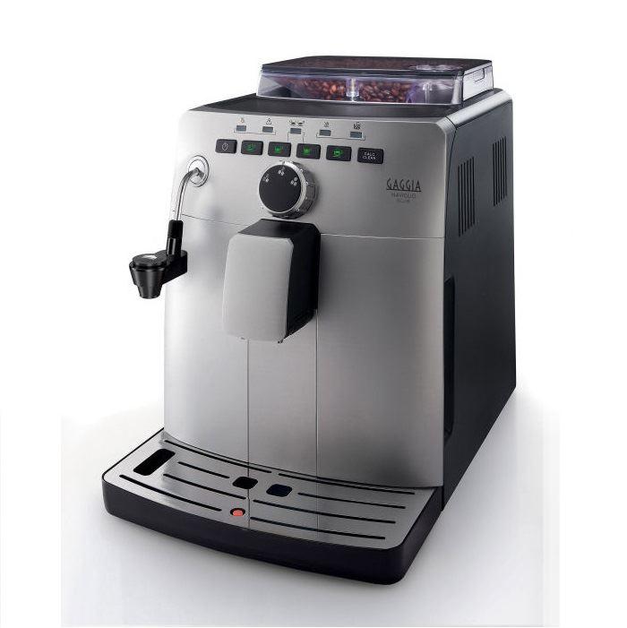 Espressor automat Gaggia Naviglio Deluxe, 15 bari, 1.5 l, 300g, 1850W, Cappuccinator, cafea cadou