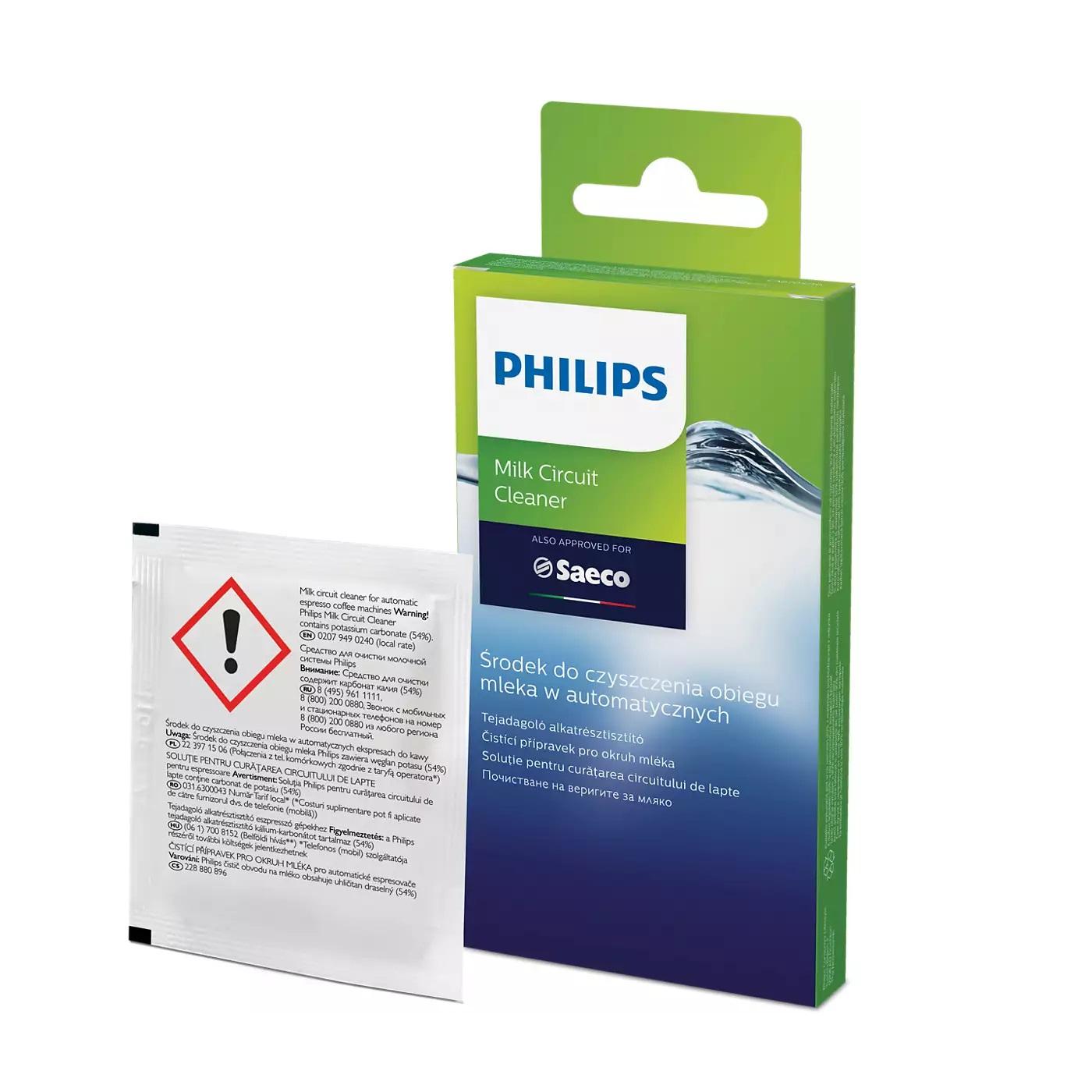 Philips Saeco pudra de curatare sistem lapte set 6 plicuri