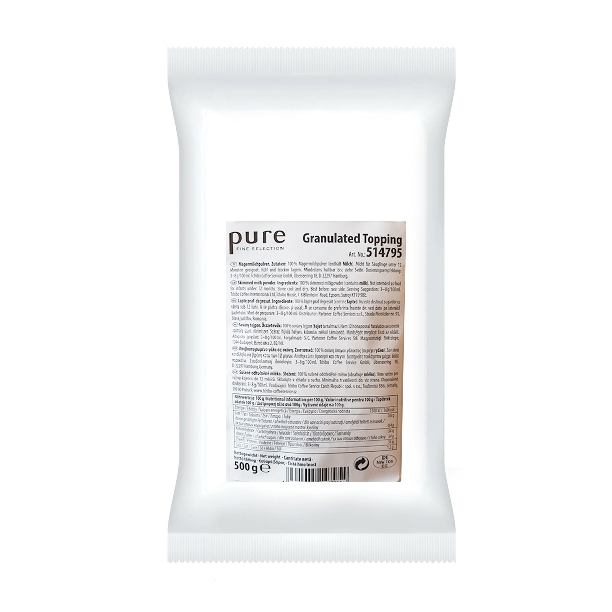 Pure Topping granulat 100 lapte 500g