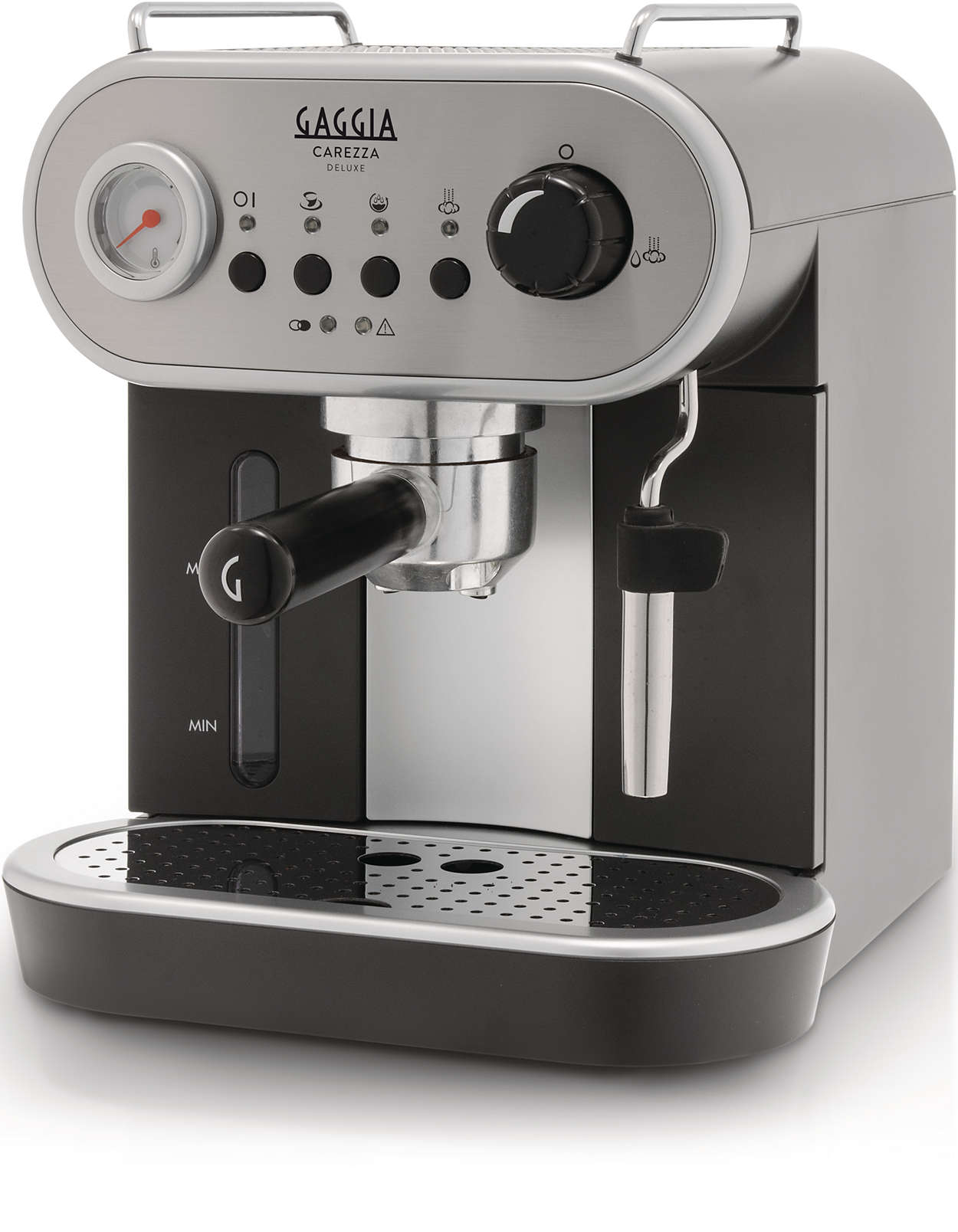 Espressor manual Gaggia Carezza Deluxe, 1900 W, 1.4 L, 15 bar, cadou decalcifiant Gaggia