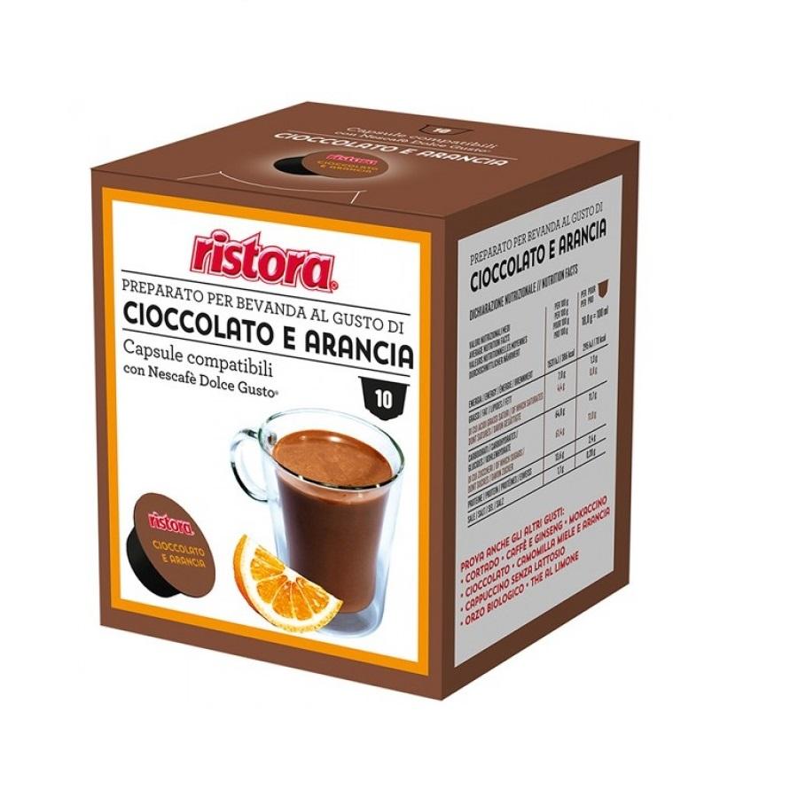 Ristora ciocolata si portocale capsule compatibile Nescafe Dolce Gusto cutie 10 buc