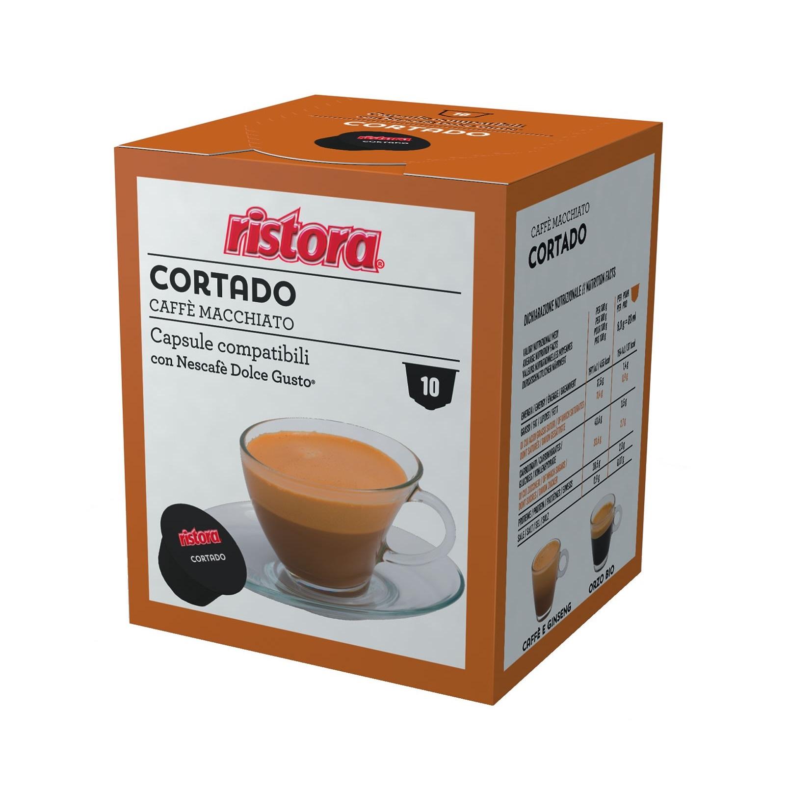 Ristora Cortado capsule compatibile Nescafe Dolce Gusto cutie 10 buc