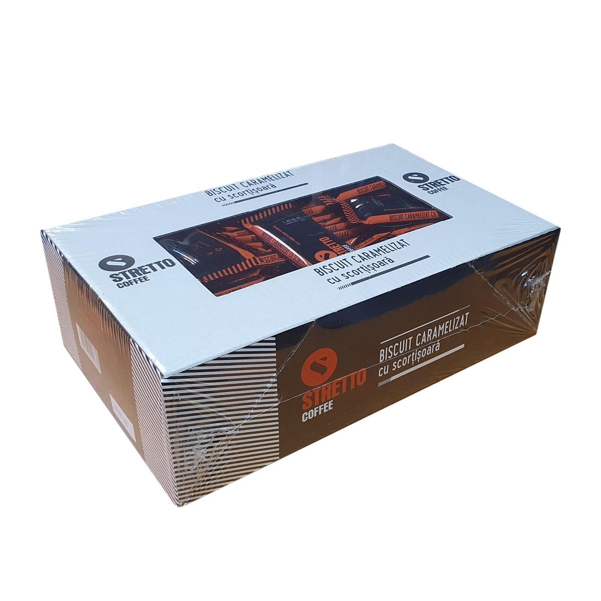 Stretto biscuiti caramelizati cu scortisoara cutie 120 buc