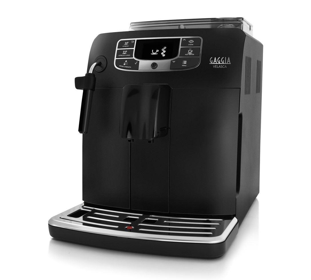 Espressor automat Gaggia Velasca Black, 15 bari, 1.5 l, 300g, Steamer, cafea cadou