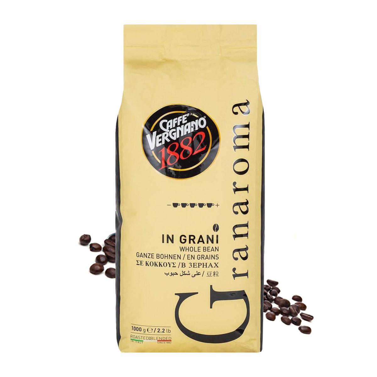 Vergnano Gran Aroma cafea boabe 1 kg