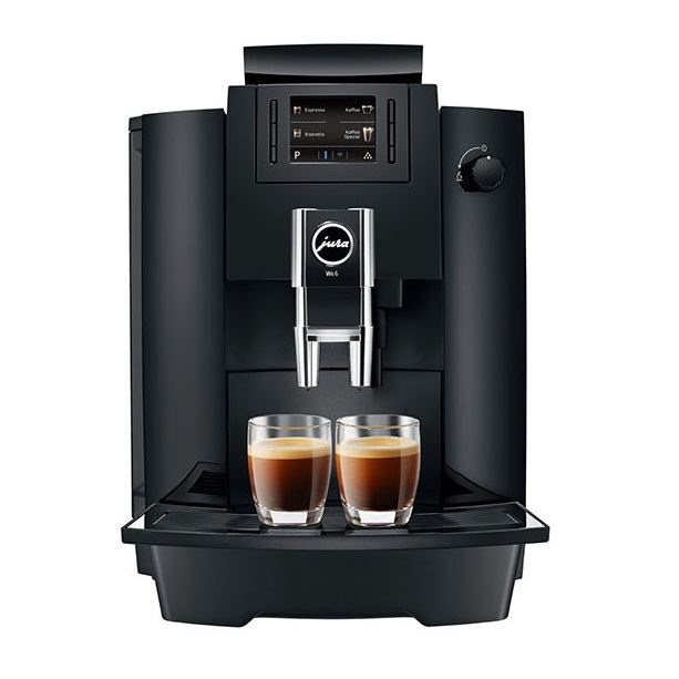 Espressor profesional Jura WE6, 15 bari, 3 l, 500g, rasnita AromaG3, 8 specialitati, afisaj color+ cafea cadou