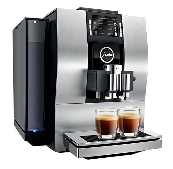 Espressor automat Jura Z6, 15 bari, 2.4 l, 280g, rasnita Professional Aroma, 22 specialitati One Touch, afisaj, Argintiu+ cadou cafea